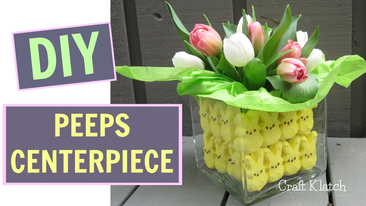 Fun and easy peeps easter centerpiece craft tutorial