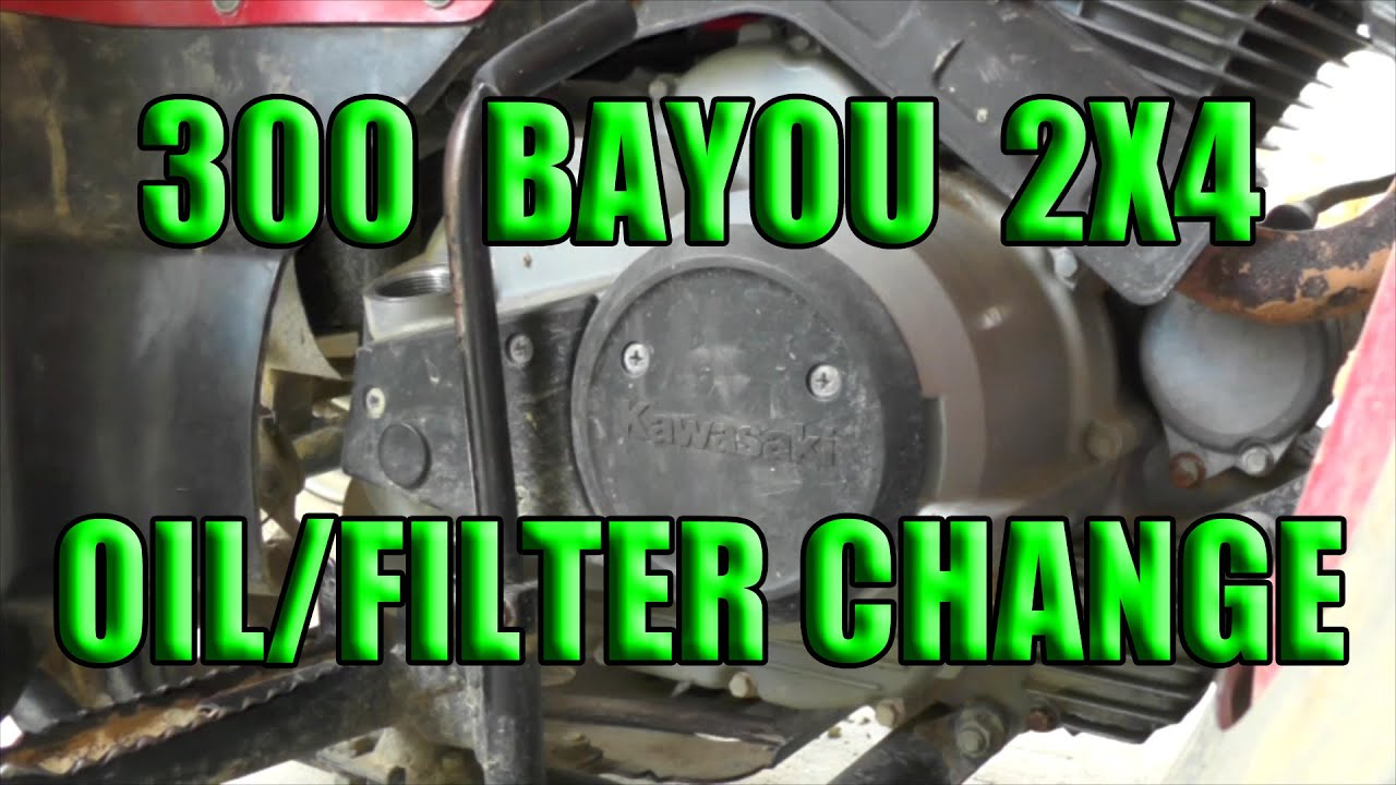 kawasaki bayou 300 oil change [ 1280 x 720 Pixel ]