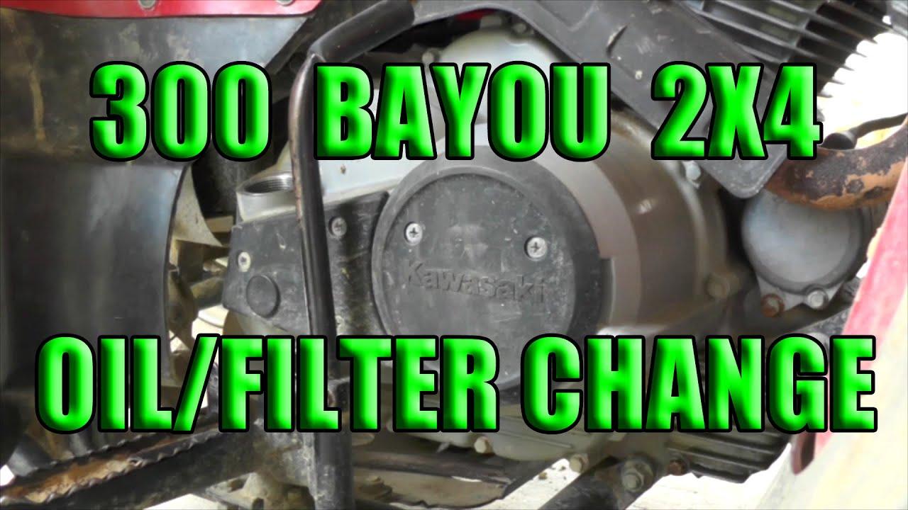 medium resolution of kawasaki bayou 300 oil change