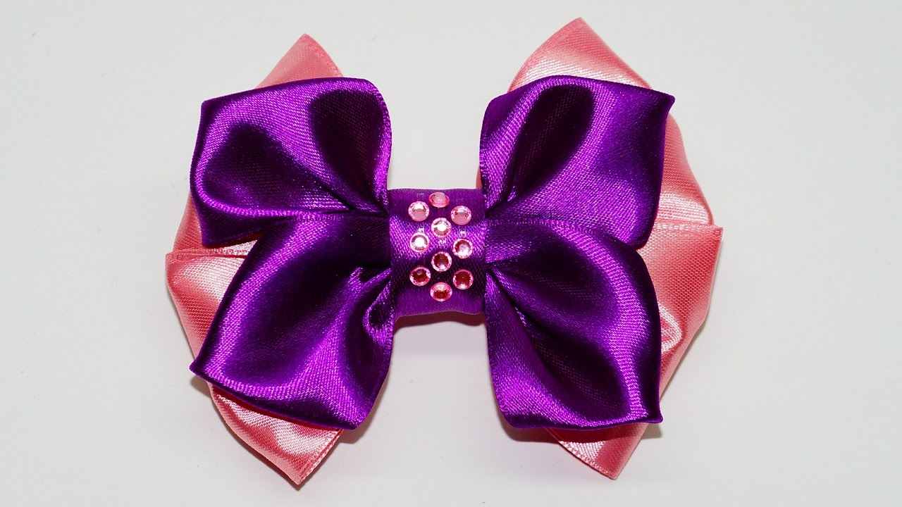 DIY crafts How to Make Simple Easy Bow/ Ribbon Hair Bow ...
