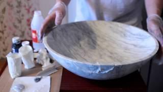 Реставрация раковины из мрамора. часть 3(, 2013-02-25T13:05:15.000Z)