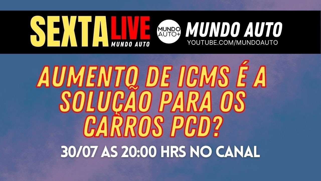 LIVE - AUMENTO DO ICMS É A SOLUÇÃO PARA O PCD