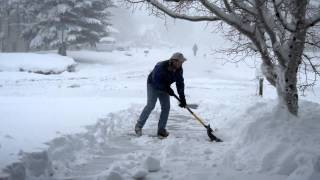 Flagstaff, Arizona Snow Storm and Shoveling like Benny Hill