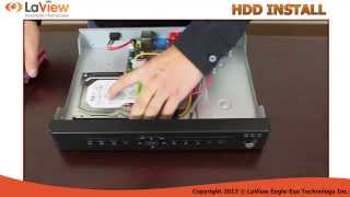 How to Install a HDD to LaView USA DVR