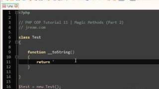 PHP Magic Methods Tutorial OOP | 11 (Part 2)