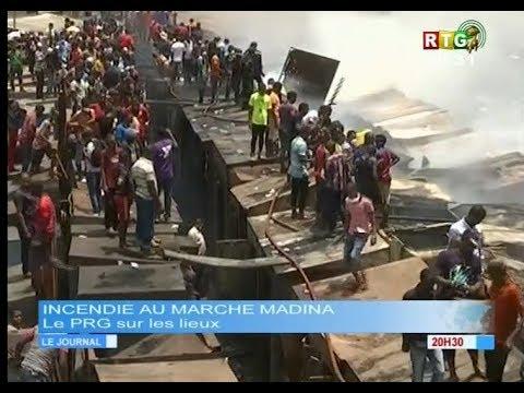 www.guineesud.com - Conakry : Incendie au marché Madina - Le 18 mars 2018