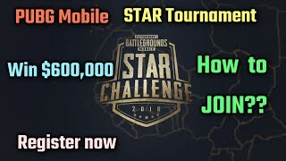 PUBG Mobile STAR Tournament | How to Register?