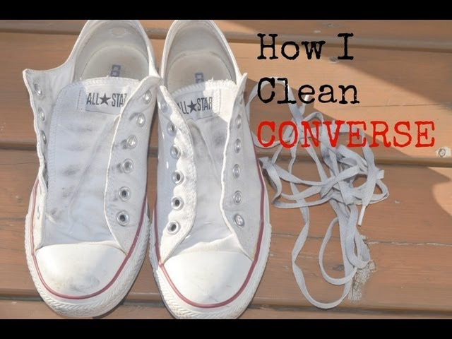 How I Clean Converse - YouTube