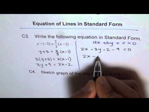 Write Equation in Standard Form and Graph C3 and C4