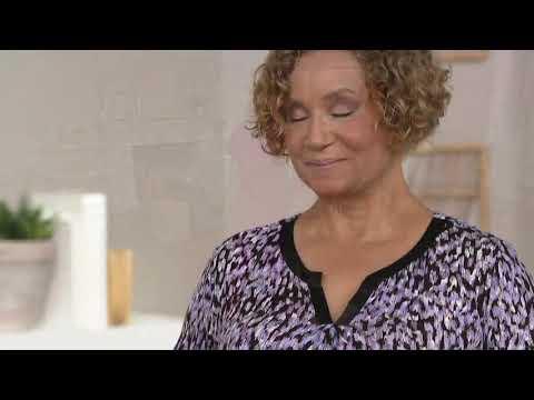 Carole Hochman Rayon Spandex Satin Trim Pajama Set on QVC