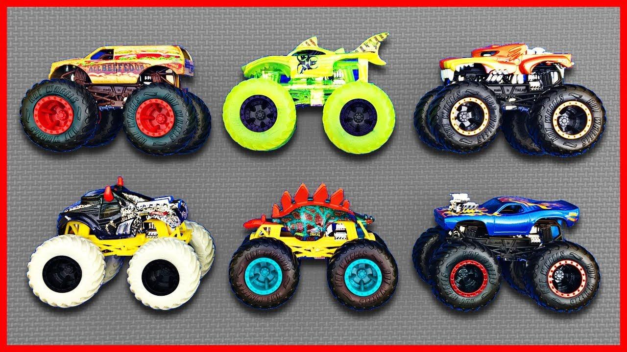 Monster Trucks For Kids Learn Monster Truck Names Colors Fun Educational Organic Learning Youtube