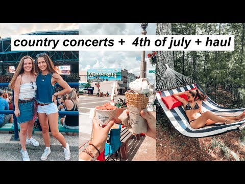 VLOG: Thomas Rhett Concert + 4th Of July Cabin Trip + Haul!!