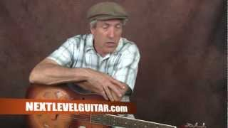 Learn Delta Blues guitar Robert Johnson inspired lesson Hellhound on My Trail style song