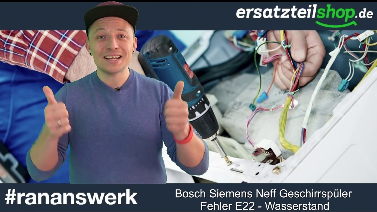 bosch spülmaschine fehler e22