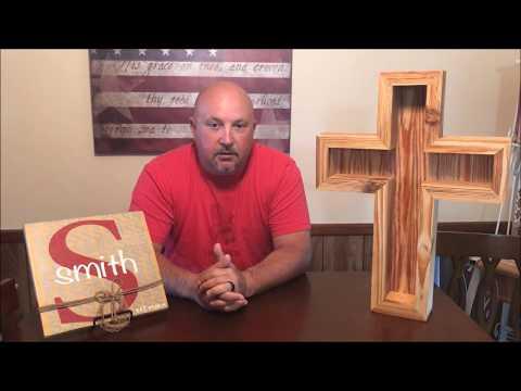 DIY Wooden Cross Shadow Box:  Baseball display