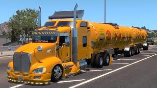 Kenworth T660 Transportando DIESEL y GASOLINA SHELL Doble Remolque Cisterna de Durango a Zacatecas