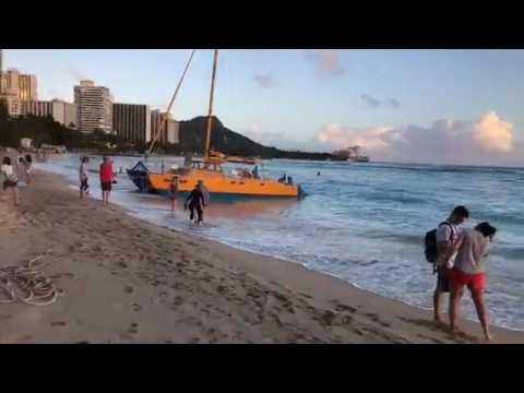 Waikiki At Sunset on Oahu Hawaii