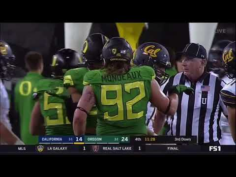 Oregon Ducks vs. Cal Golden Bears 09/30/17- Ducks Highlights