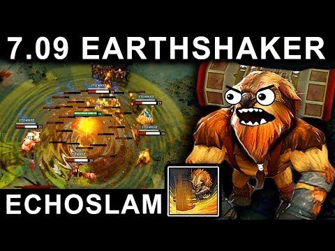 AMAZING EARTHSHAKER PATCH 7.09 DOTA 2 NEW META GAMEPLAY #29 (CARRY EARTHSHAKER FUNNY ECHOSLAM)