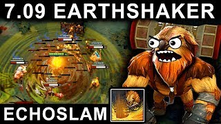AMAZING EARTHSHAKER PATCH 7.09 DOTA 2 NEW META GAMEPLAY #29 (CARRY EARTHSHAKER FUNNY ECHOSLAM)