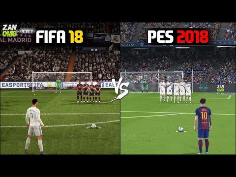 FIFA 18 vs PES 2018 Gameplay Comparison