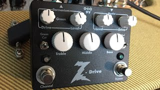 Dr. Z Z-Drive Overdrive Pedal Demo/Review with R0 Gibson Les Paul