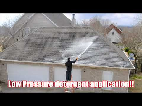 How to Soft Wash a Roof | Access Pressure Wash | Softwashing