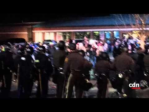 FERGUSON POLICE PEPPER SPRAY PROTESTERS!