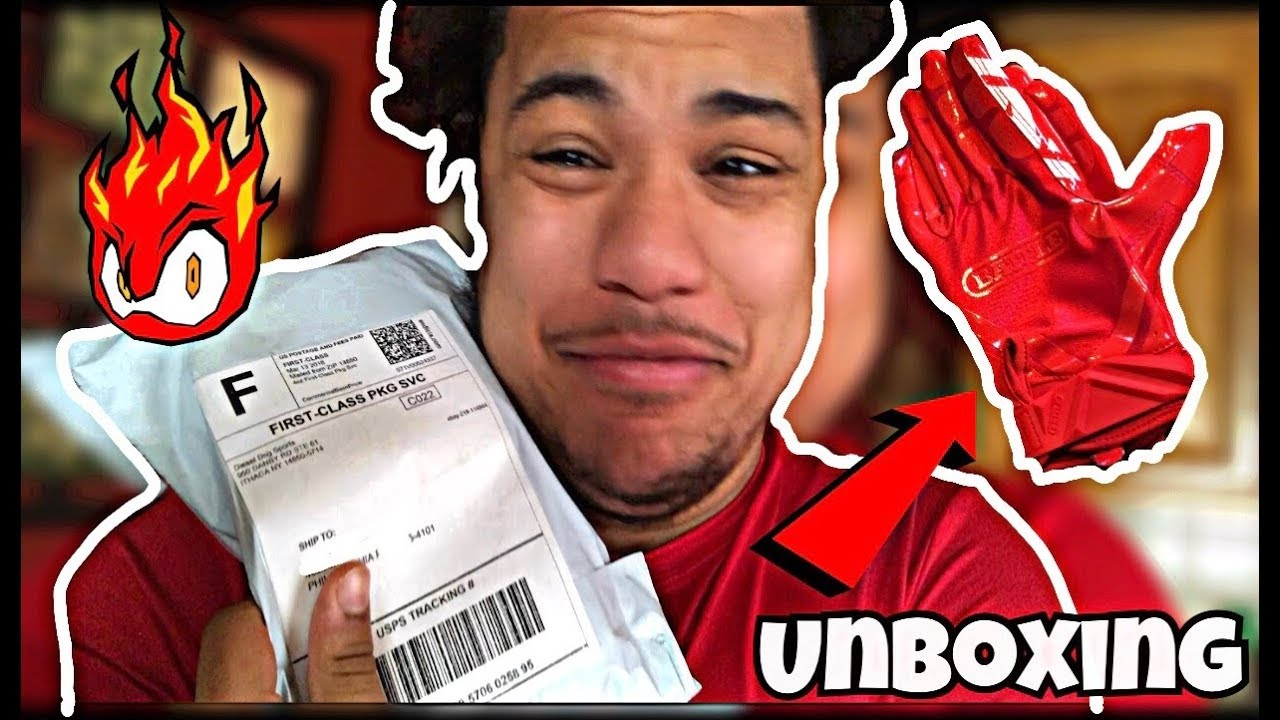 Unboxing All Red Battle Football Gloves Youtube