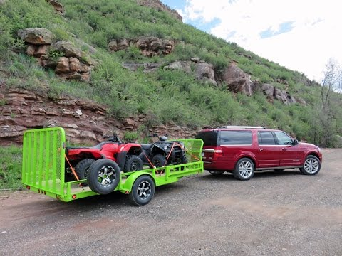 Ford Expedition Platinum EL 2015 review hauling 8 people in the Rockies