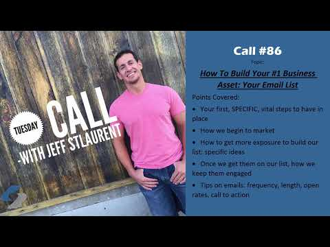 Call#86- How To Build Your #1 Business Asset: Your Email List