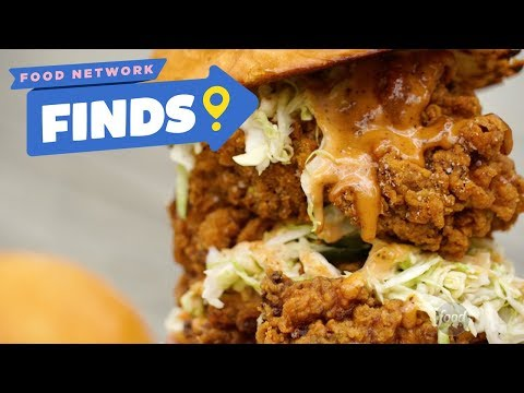 Double Fried Chicken Sandwich at Two Birds | Food Network