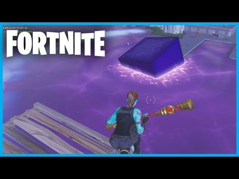 THE CUBE *DISSOLVED* into LOOT LAKE in Fortnite: Battle Royale! (LOOT LAKE IS SUPER BOUNCY)