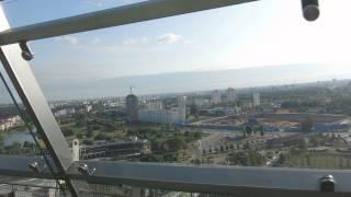 Вид с крыши Национальной библиотеки ''Алмаз'' в г. Минск (Беларусь)