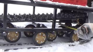 Самодельный снегоход ,основные размеры.