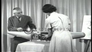 A documentary shows Admiral Hyman G. Rickover explaining about USS Nautilus with ...HD Stock Footage