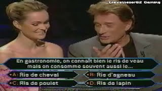 Qui Veut Gagner Des Millions (QVGDM) - 11/01/2005 - Johnny Hallyday et Laeticia Hallyday