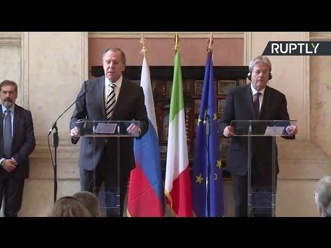Пресс-конференция Лаврова и главы МИД Италии по итогам встречи