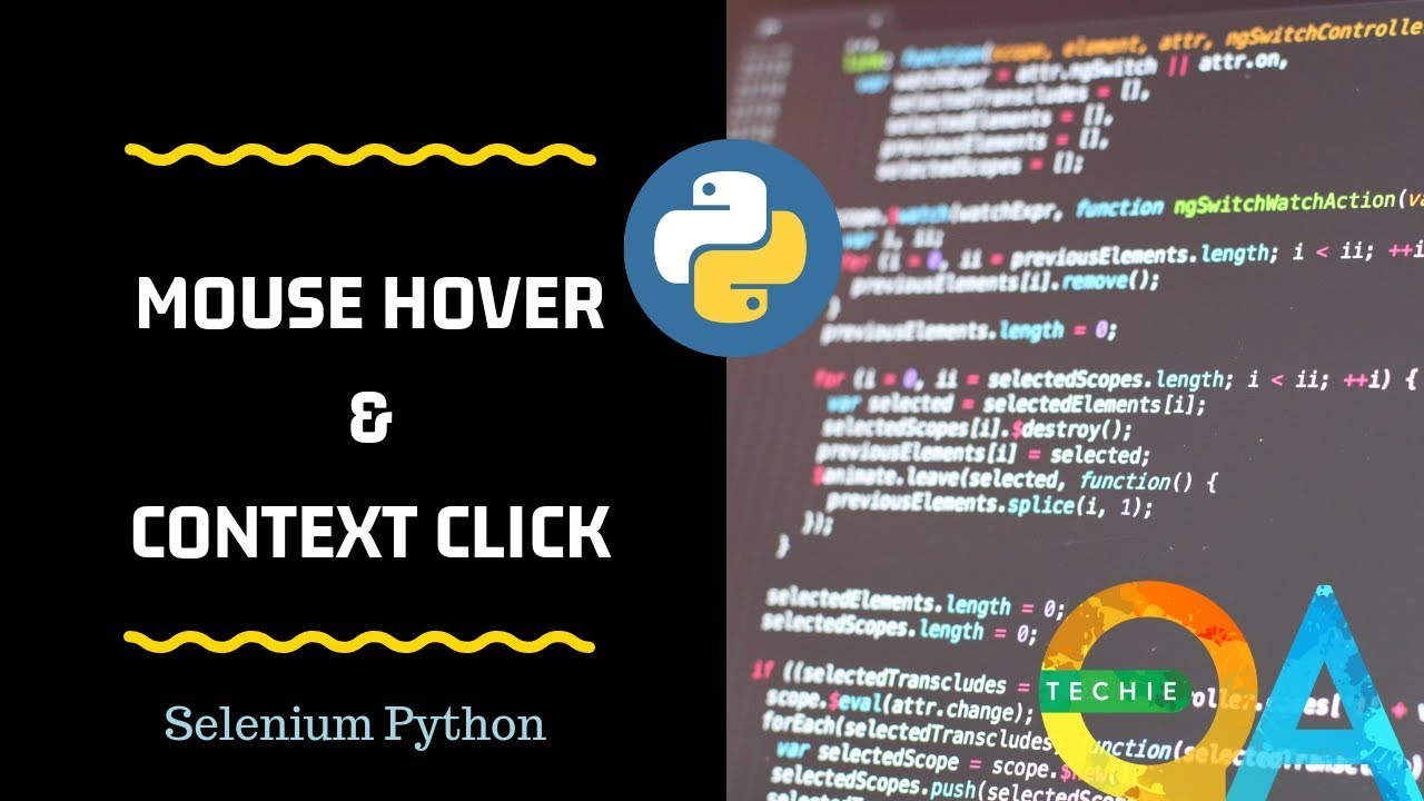 How to do mousehover and context click ?