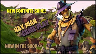 NEW FORTNITE HAY MAN SKIN GAME PLAY!! COMBINED 21 KILL SQUAD WIN WITH TGBG!