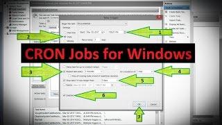Trigger CRON Jobs for Windows Server/Elgg, XP 7 8 10 2012 2016 Setup Tutorial