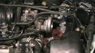 Clean Engine Throttle Bore to repair idle and starting problems.