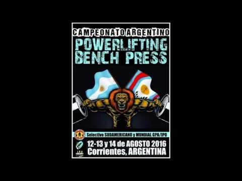 Campeonato Argentino Powerlifting Bench Press