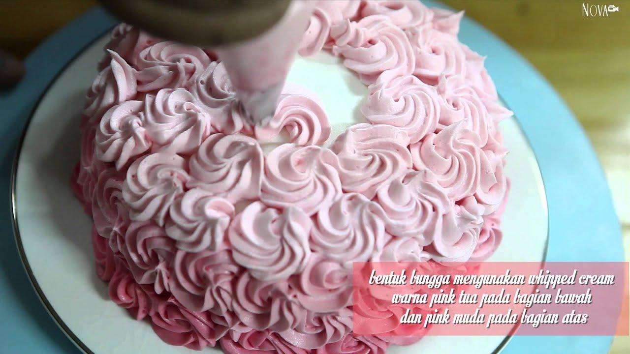 Cara Membuat Ombre Rose Cake