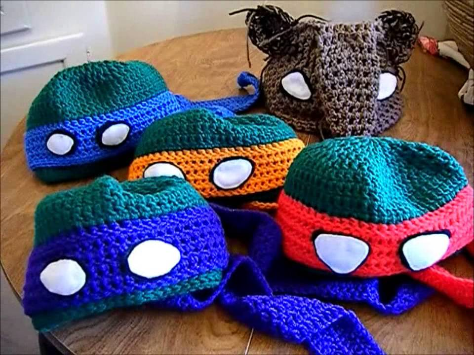 Teenage Mutant Ninja Turtle Inspired Crochet Hats Youtube