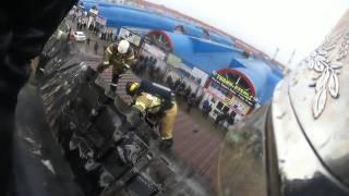 """Пожар в кафе """"Колезей"""" в Грозном / на по..."""