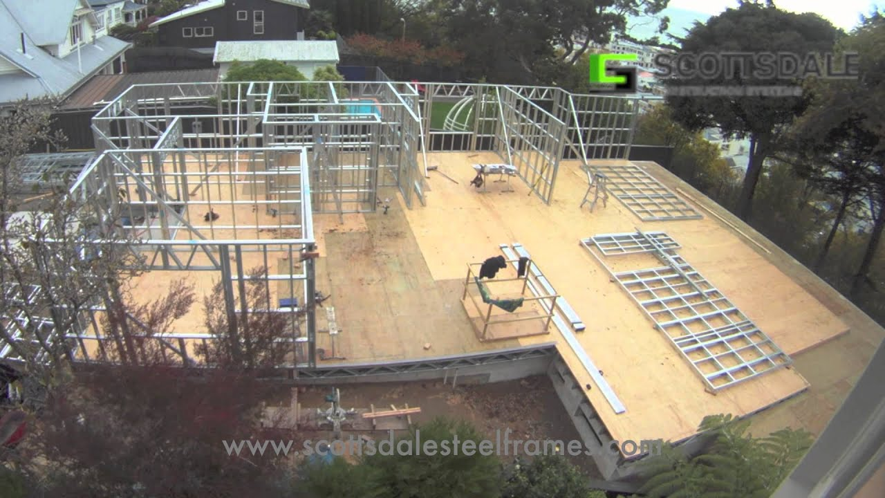 light gauge steel frame house erection youtube