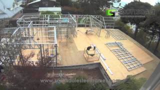 Light Gauge Steel Frame House Erection