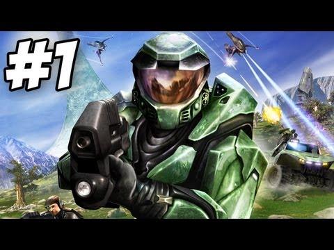Halo: Combat Evolved Walkthrough | Pillar of Autumn | Part 1 (Xbox/PC)