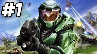 Halo: Combat Evolved Walkthrough | Pillar of Autumn  | Part 1 (Xbox/PC)